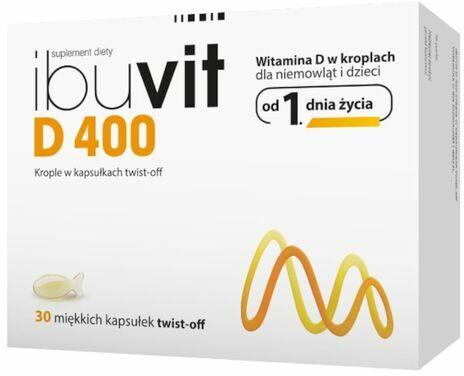 Ibuvit D 400 Witamina D dla dzieci i niemowląt od 1 dnia życia - 30 kapsułek twist-off