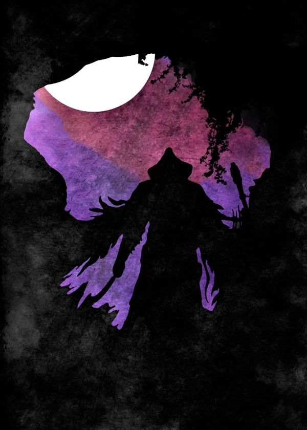 Moonlight caverns - bloodborne - plakat wymiar do wyboru: 70x100 cm