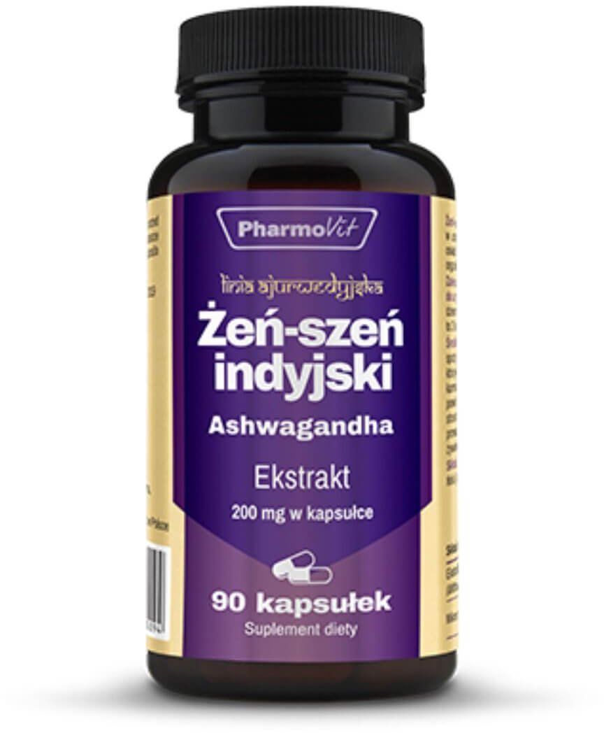 Żeń-Szeń Indyjski Ashwagandha 20:1 200 mg (90 kaps) Pharmovit