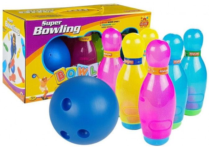 Duzy Zestaw Kręgli 6 sztuk + Piłka Bowling