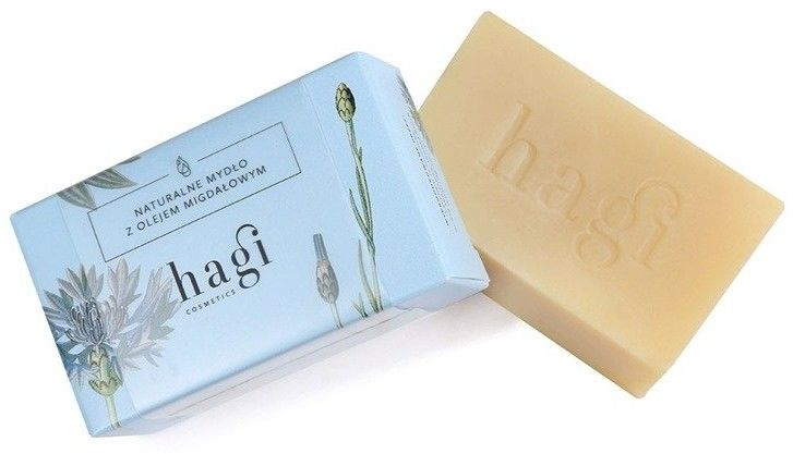 Hagi Naturalne Mydło z Olejem Migdałowym Mydło do skóry delikatnej 100 g