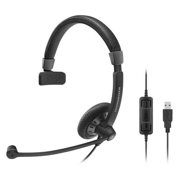 Sennheiser SC 40 USB CTRL Zestaw nagłowny przewodowy na jedno ucho złącze USB, kontrola połączeń