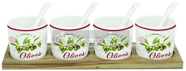 ZESTAW DO SERWOWANIA PRZEKĄSEK I PIKLI LOUNGE Olives (822 OLIV)