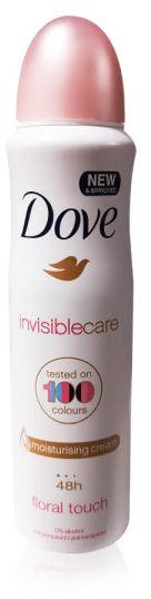 Dove Invisible Care Antyperspirant w sprayu, bez śladów na ubraniu 150 ml