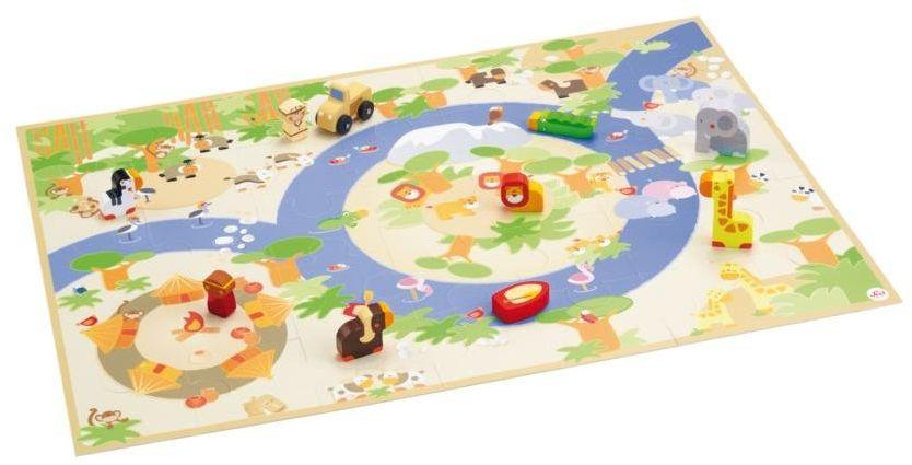Sevi 82625 - Puzzle do zabawy Safari z figurkami