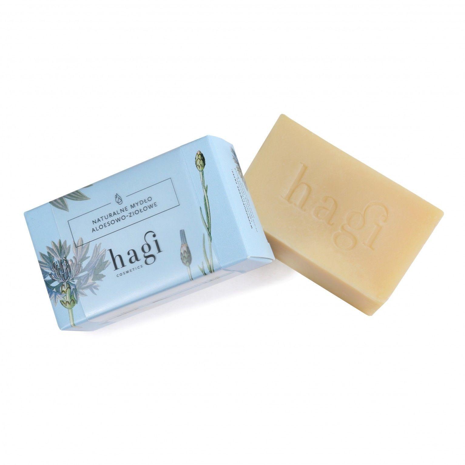 Hagi Naturalne Mydło Aloesowo-Ziołowe Mydło do skóry wrażliwej i normalnej 100 g