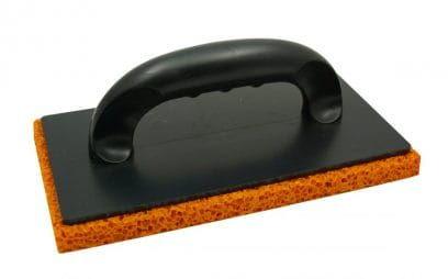 SOLID Paca z gąbką gumową pomarańczową 130x250mm