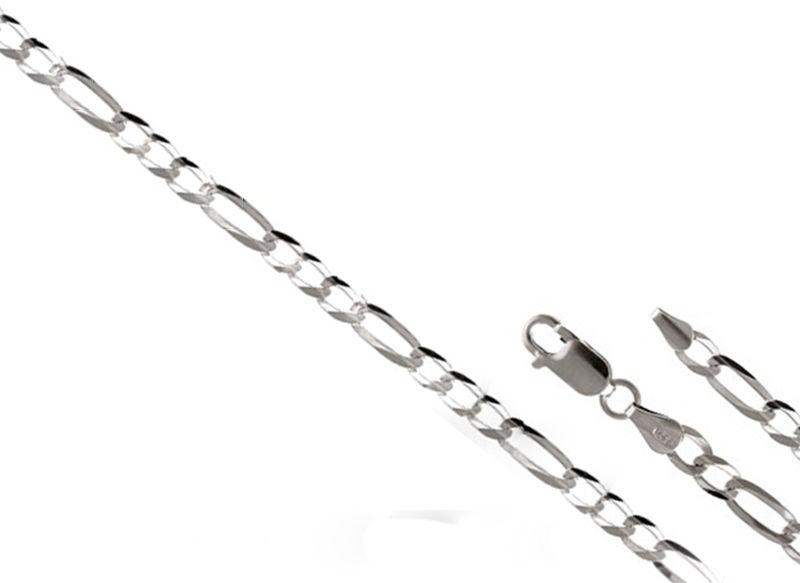 ŁAŃCUSZEK SREBRNY 925 FIGARO 55cm