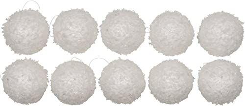 Christmas Gifts Bombki bożonarodzeniowe płatek śniegu, 10 sztuk, plastikowe, białe, 30 x 12 x 6 cm