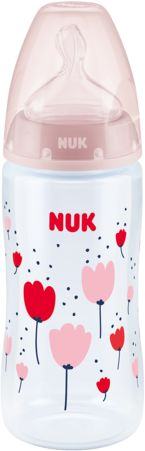 Butelka NUK FC+ 300 ml smoczek silikon M (0-6m) z czujnikiem temperatury