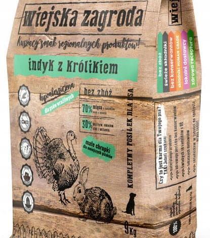 2kg Indyk z Królikiem Wiejska Zagroda 70% Mięsa