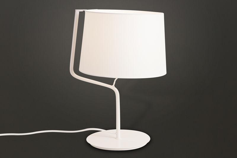 Lampa stołowa CHICAGO WH T0028 Maxlight abażur nowoczesna hotelowa energooszczędna lampka stołowa
