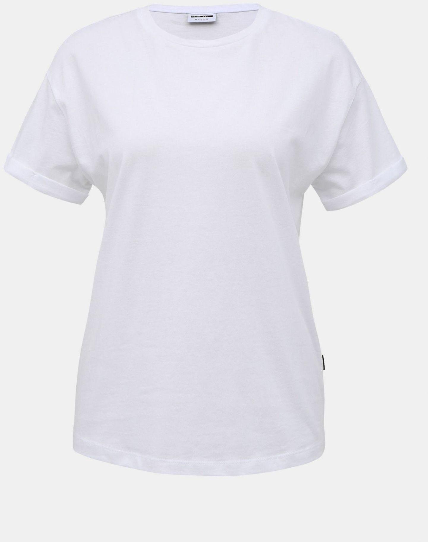 Biała podstawowa koszulka Noisy May Brandy - L