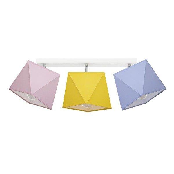 Lampa sufitowa z abażurem DIAMENCIK III szer. 70cm [abażur do wyboru]