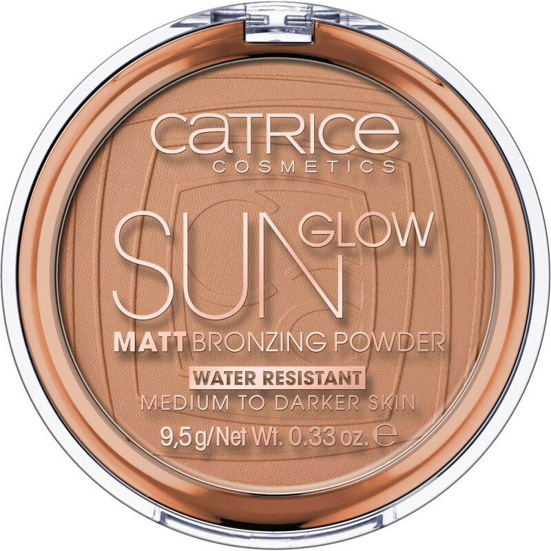 Catrice - Sun Glow - Matt Bronzing Powder - Puder brązujący - 9,5 g - 035 - UNIVERSAL BRONZE