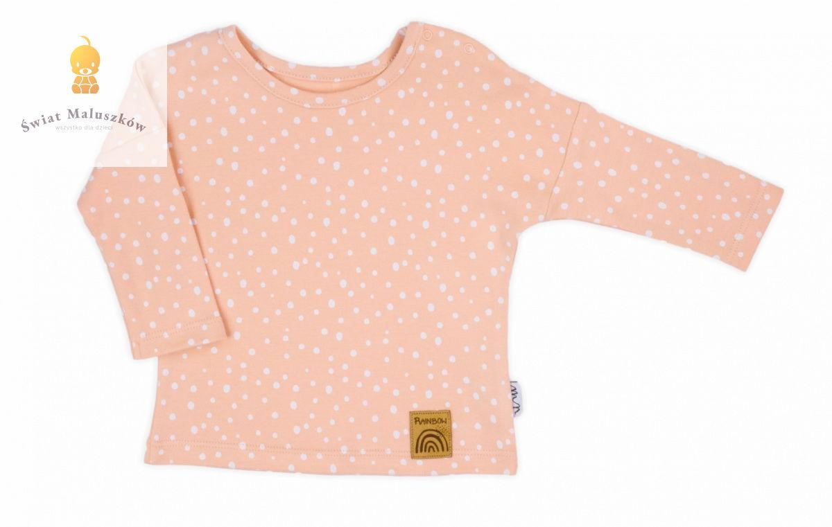 Bluzka bawełniana z długim rękawem Rainbow NICOL r.68-122