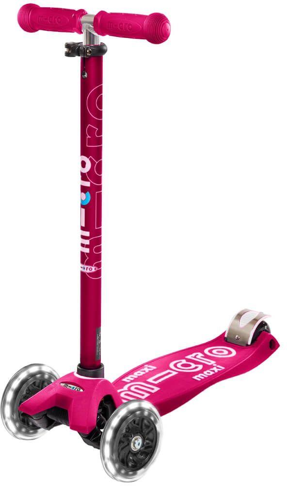 Hulajnoga Micro Maxi deluxe Pink (LED) MMD077