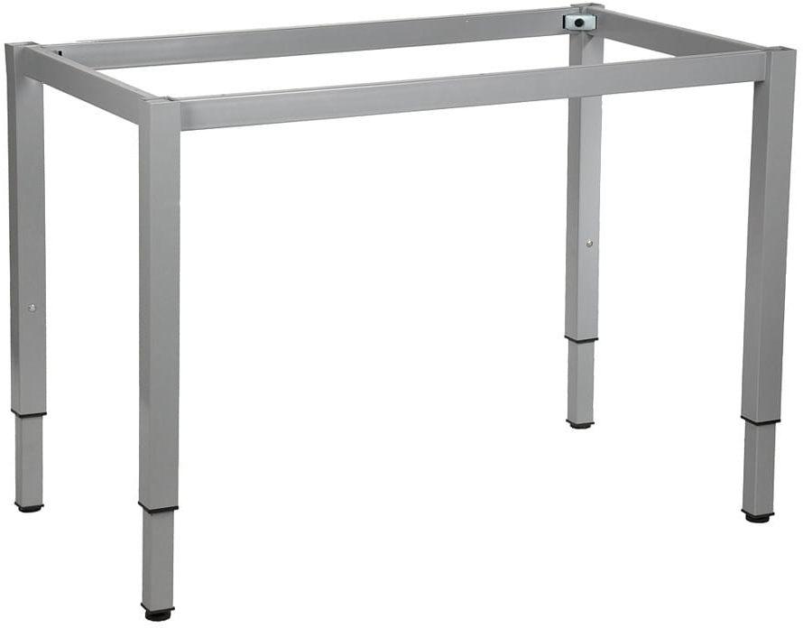 Stelaż ramowy regulowany na wysokość, 116x66 cm - noga o przekroju kwadratowym. Do stołu lub biurka.