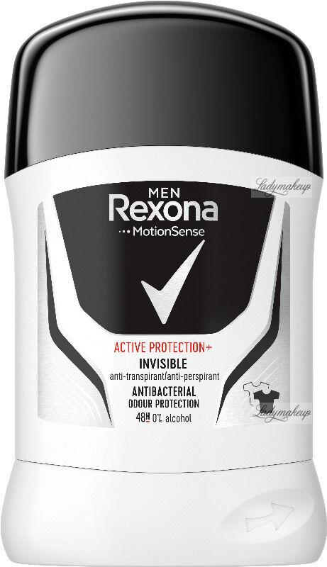 Rexona - Men - Active Protection+ Invisible Anti-Perspirant 48H - Antyperspirant w sztyfcie dla mężczyzn - 50 ml