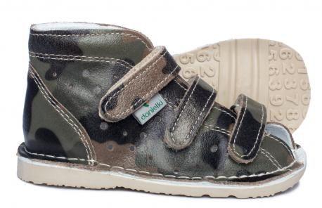 Danielki T105/T115 skórzane kapcie sandały profilaktyczno-rehabilitacyjne MORO
