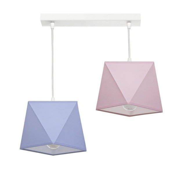 Lampa wisząca z abażurem DIAMENCIK II szer. 50cm [abażur do wyboru]