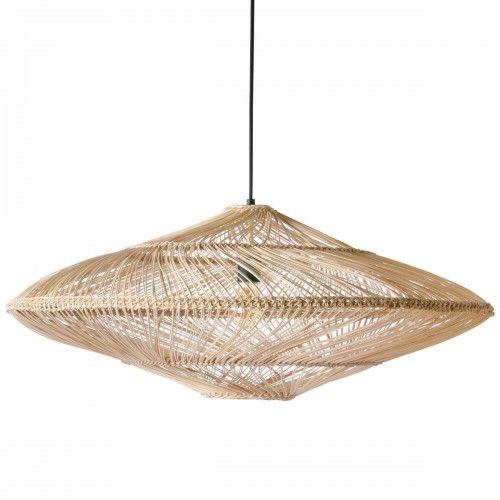 Lampa wisząca wiklinowa owalna naturalna
