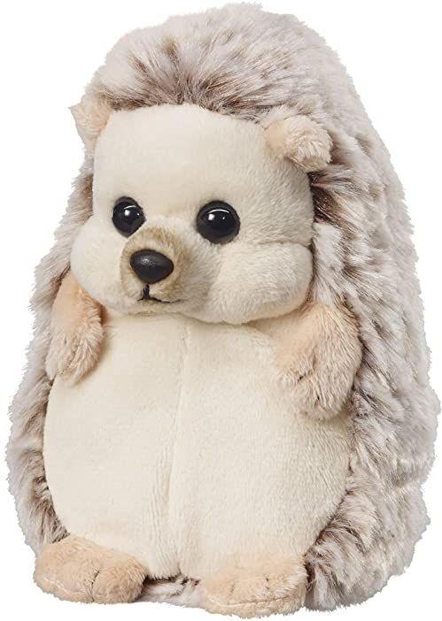 """Bauer Spielwaren """"Twoje zwierzęta z sercem"""" jeż stojący: mała przytulanka do przytulania i kochania, idealna na prezent, 15 cm, jasnobrązowa (12543)"""
