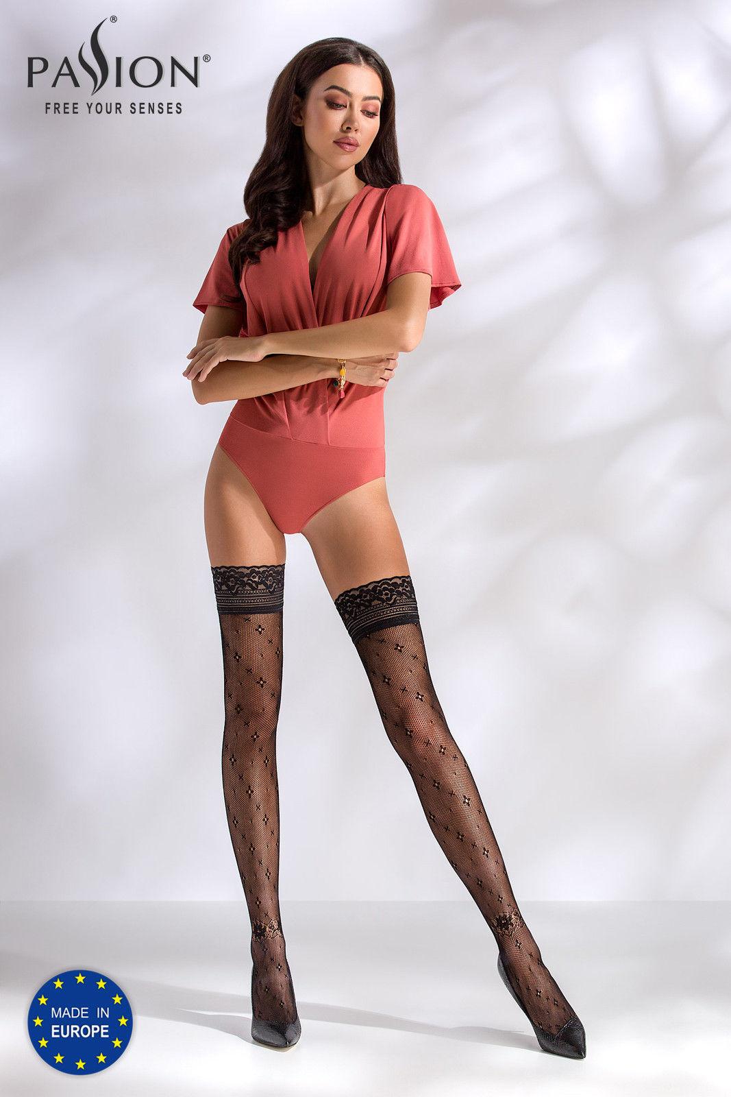 Passion ST016 Stockings Nero