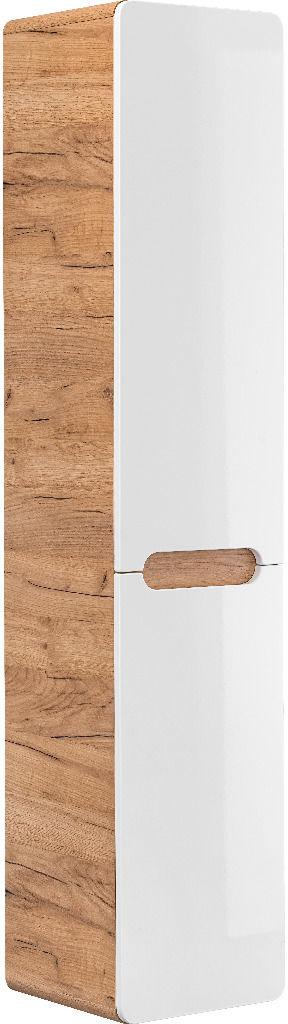 Szafka łazienkowa ARUBA 804 biała/dąb z koszem  Kupuj w Sprawdzonych sklepach