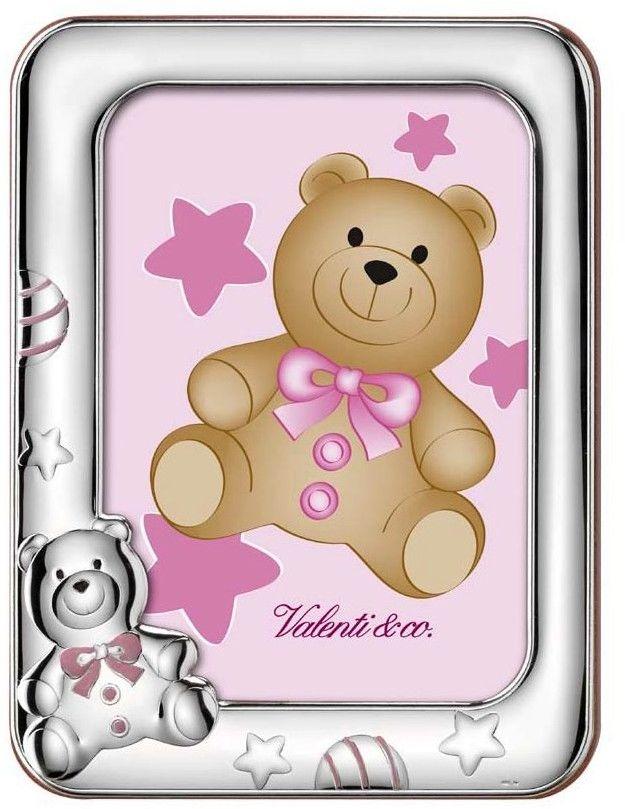 Ramka na zdjęcie Miś Pluszowy Rozmiar: 9x13 cm Kolor: Różowy SKU: V10708/3LR