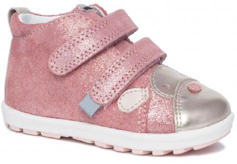Bartek Baby Mini First Steps 71734 0ZP profilaktyczne trzewiki skórzane, dla dziewczynek róż złoty