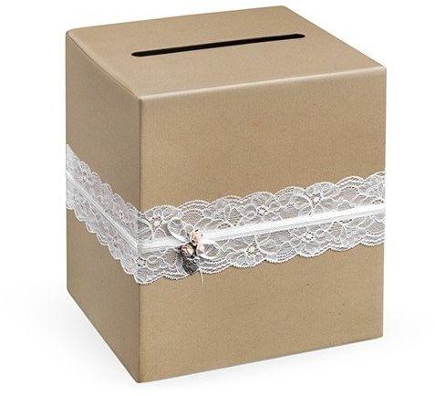 Pudełko weselne na koperty z życzeniami, prezentami 24x24x24cm PUDTM2