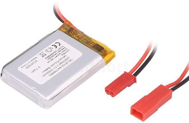 Akumulator Li-Po 3,7V 1000mAh z przewodami 8x30x40mm