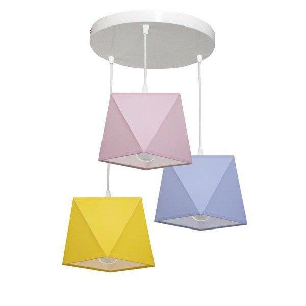 Lampa wisząca z abażurem DIAMENCIK III śr. 40cm [abażur do wyboru]