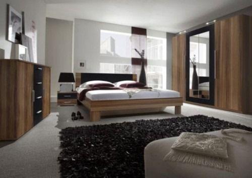 Zestaw do sypialni vera - orzech czerwony/czarny