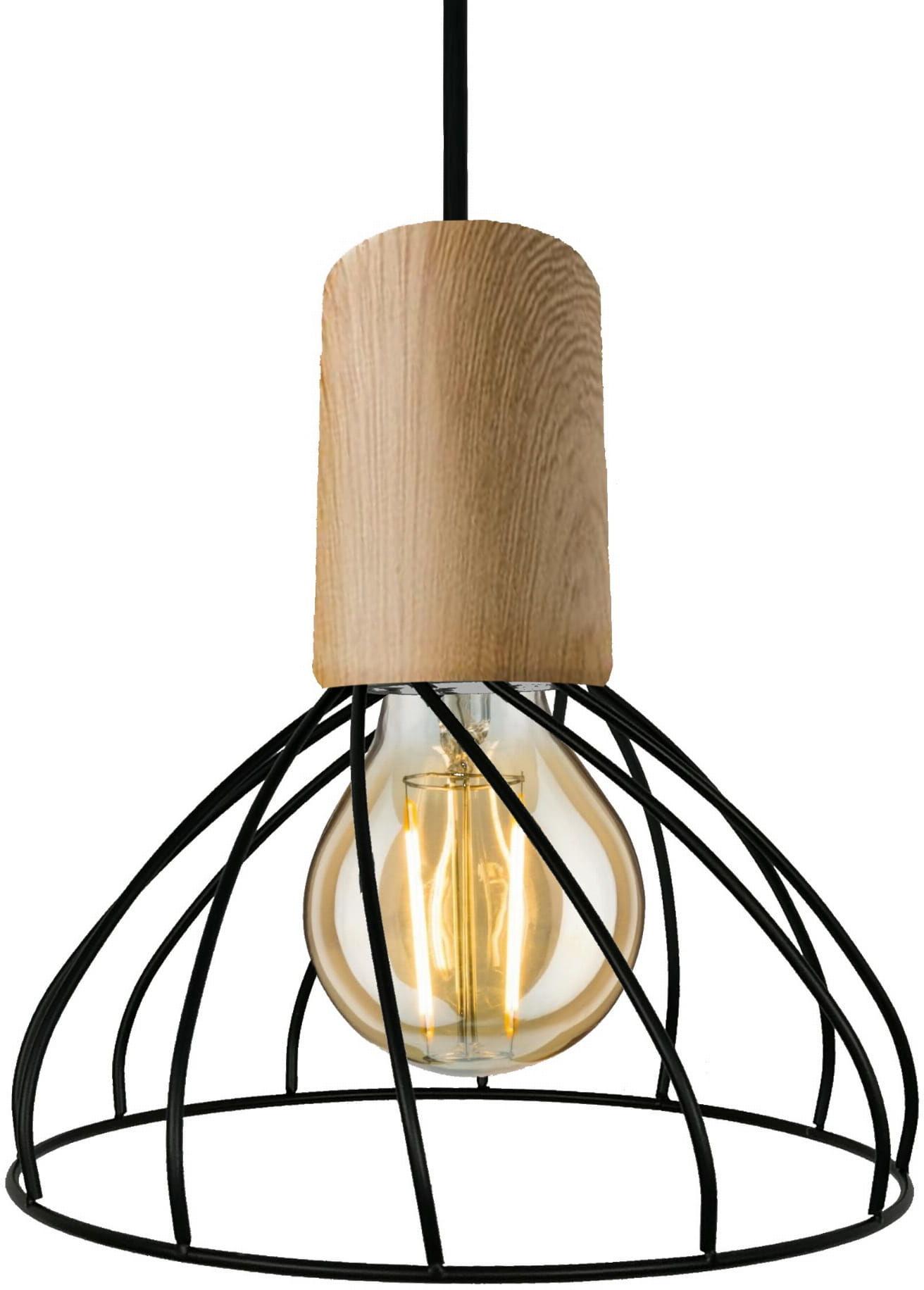 Light Prestige Moderno E27 LP-1221/1P S E27 BK lampa wisząca koszyk metalowy czarny 1x60W E27 19,5cm