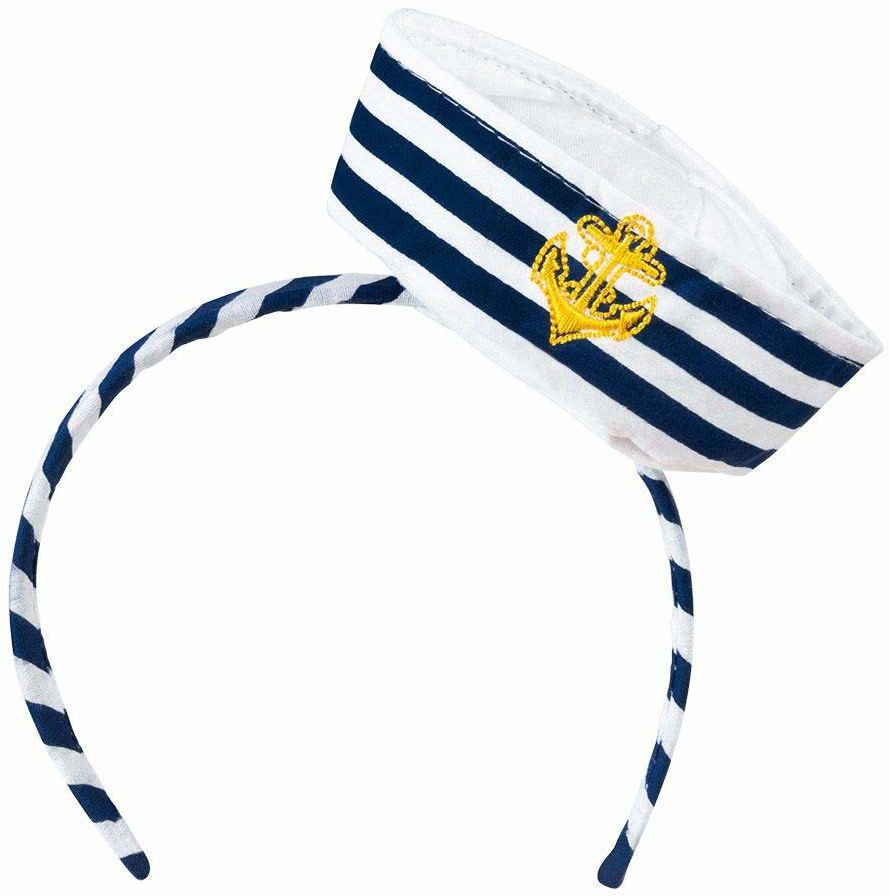 Boland 44356  opaska do włosów Tiara Navy Sailor, marynarka, akcesoria, nakrycie głowy, kostium, impreza tematyczna, karnawał