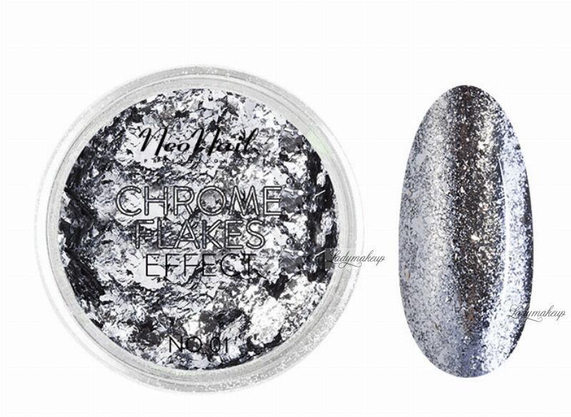NeoNail - CHROME FLAKES EFFECT - Metaliczna folia do paznokci - 01