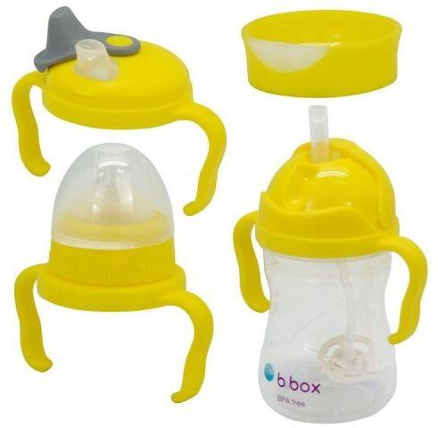 Bidon kubek zestaw 4 w 1 cytrynowy 240 ml b.box
