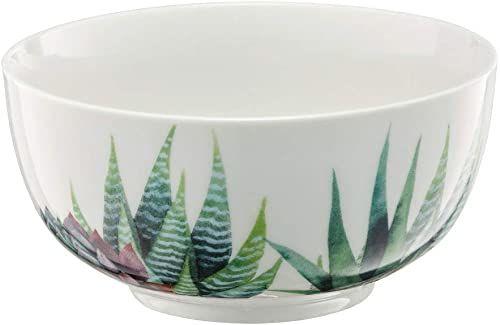 AMBITION Miska Cactus 13 cm Aloes salaterka miska na zupę szklana miska miska na musli garnek do owoców nadaje się do mycia w zmywarce nowoczesna