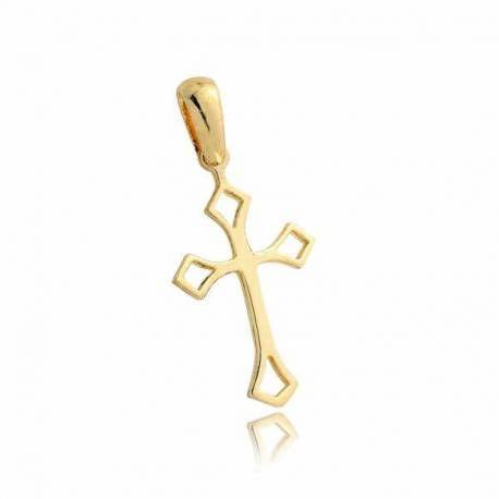 Wisiorek,złoty krzyżyk KR4