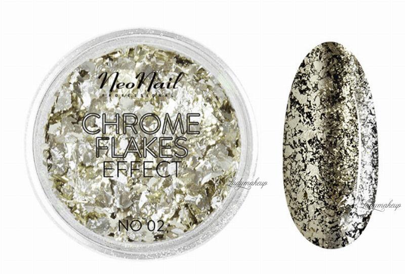NeoNail - CHROME FLAKES EFFECT - Metaliczna folia do paznokci - 02
