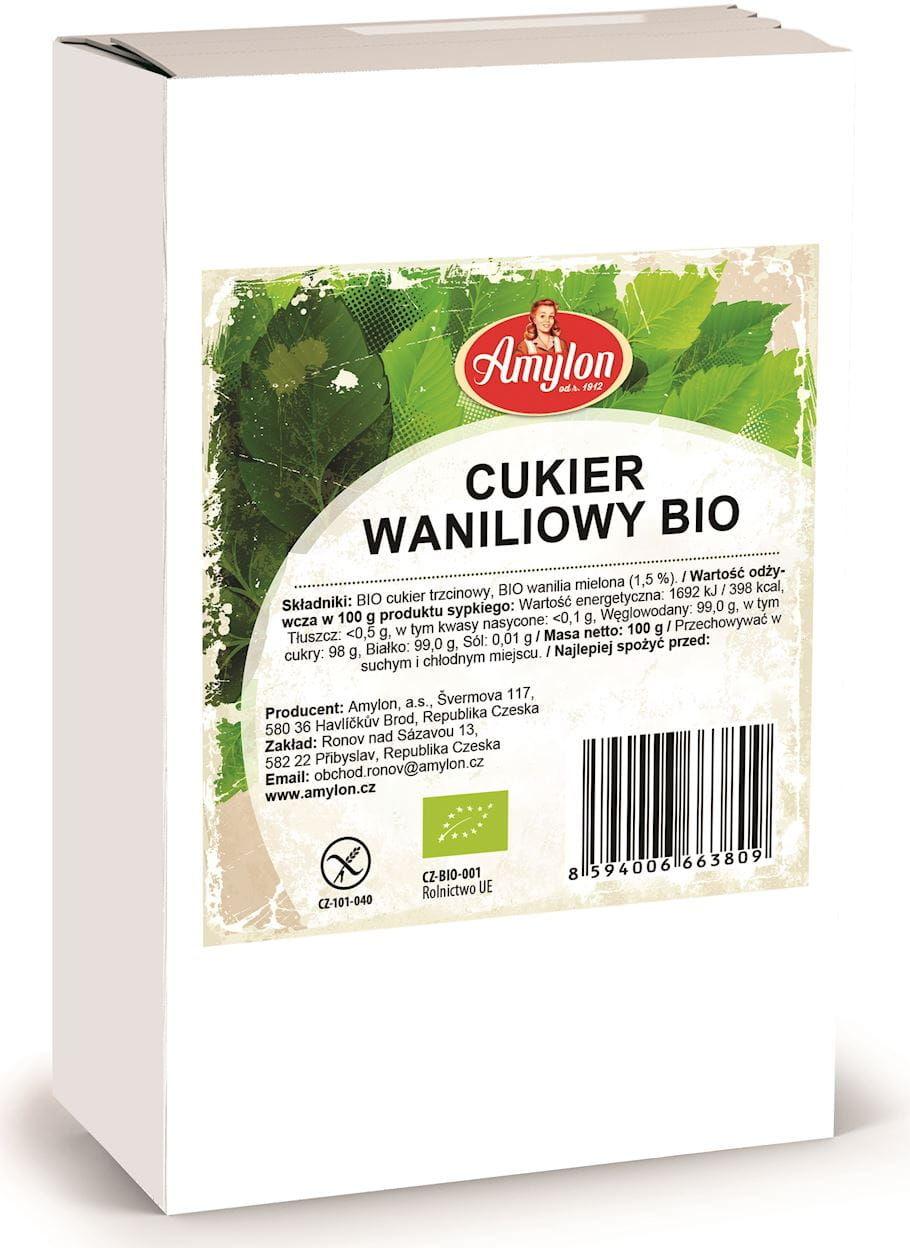 Cukier waniliowy bio 100 g - amylon