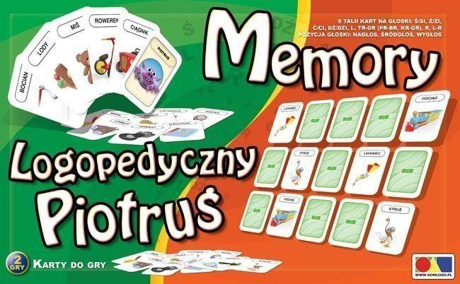 Logopedyczny Piotruś. Memory zestaw 2 - KOMLOGO