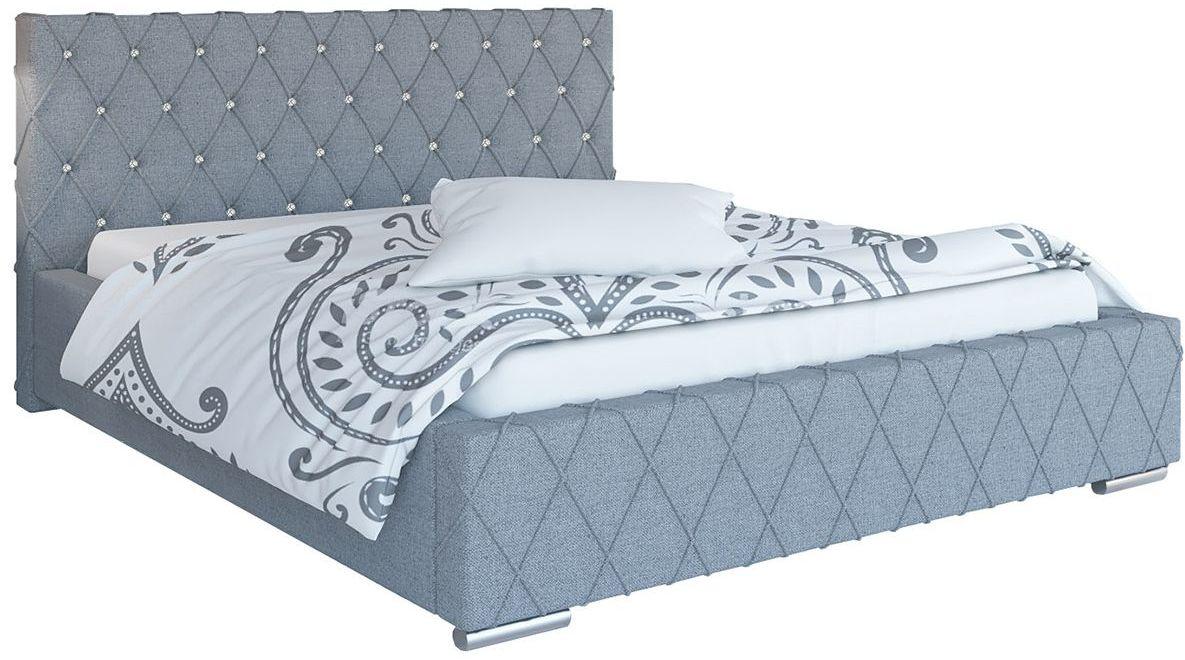 Podwójne łóżko z zagłówkiem 140x200 Loban 3X - 48 kolorów