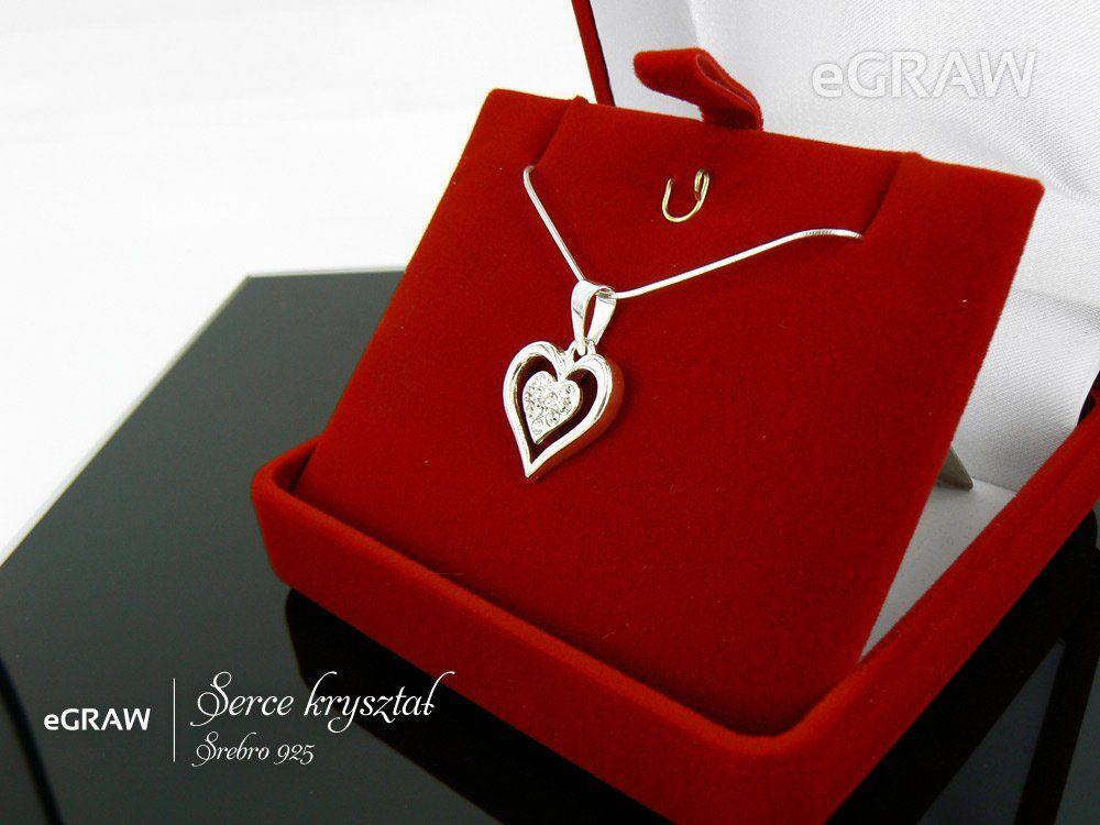 Naszyjnik Serce kryształy Srebro 925 Dzień Mamy