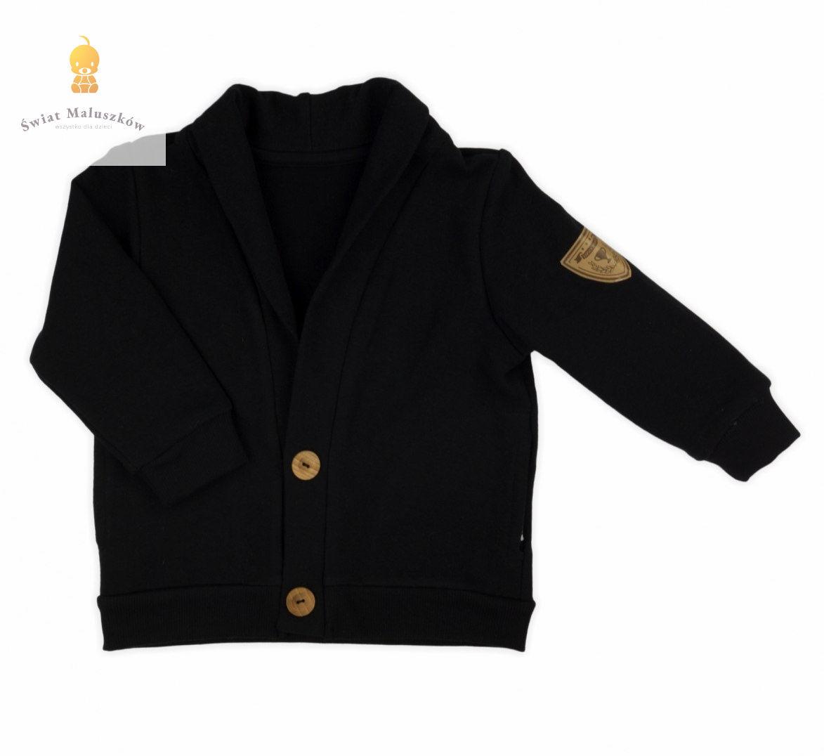 Bluza dresowa marynarka Czarna Mix NICOL r.86-122