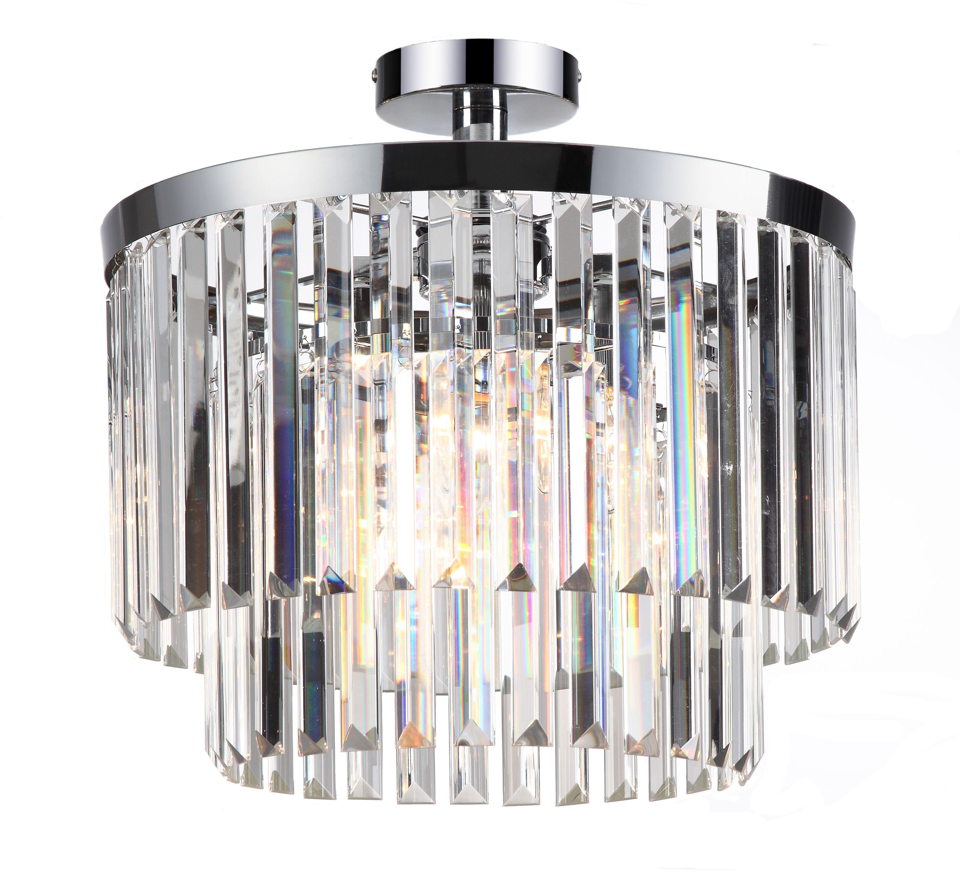 Light Prestige Vetro LP-2910/4C plafon lampa sufitowa klosz kryształ transparentny 4x40W E14 40cm