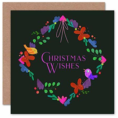 Wee Blue Coo Wireath Wishes kartka świąteczna