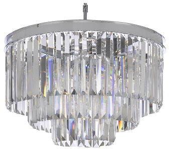 Hereford Chrome - żyrandol kryształowy 50cm